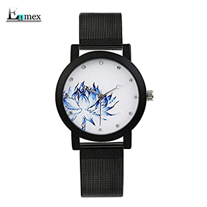 WANGZHAO Regalos Azul y Blanco Porcelana, lociones Azules, Elegantes Relojes Elegantes, refrescantes,