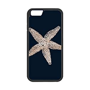 iPhone 6 4.7 Inch Cell Phone Case Black Watercolor Starfish Ujzaj