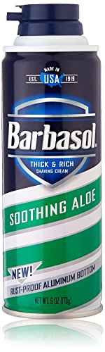 Barbasol Soothing Aloe Thick and Rich Shaving Cream,6 Ounce