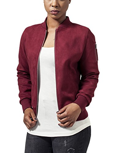 606 Ladies Bomber Classics Suede Urban Rouge Blouson Imitation Femme Burgundy Rot Jacket qOIw5SP5