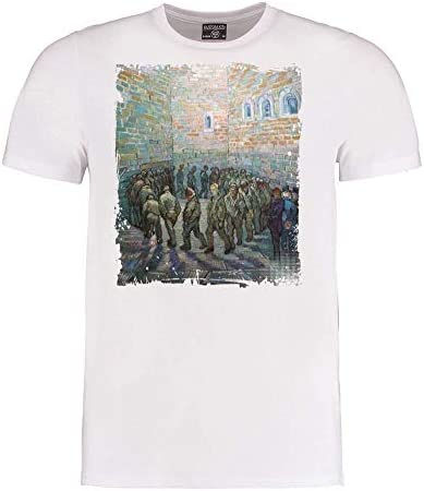 Van Gogh- Round of The Prisoners - Post-Impressionismus Art - Herren T-Shirt