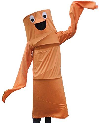 Wacky Waving Arm Flailing Tube Dancer Costume (Tangerine Tango)