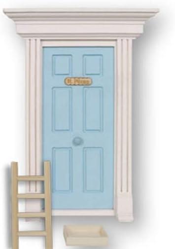 Ratoncito Pérez: Puerta mágica Azul con Escalera, Recipiente para dientes y
