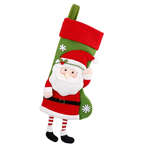 Christmas Stockings Gift Candy Bag Cartoon Santa Claus Xmas Stockings Holiday Decor (18