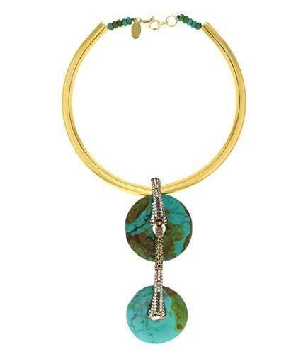 Aikaterini psoma Double Turquoise Collier de 43cm