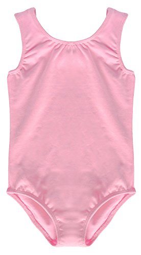 Gymnastic Rhythmic Costumes (Dancina Leotard Tank Top Toddlers Classic Cute Princess Ballet Dance Unitard Costume 2T Light Pink)