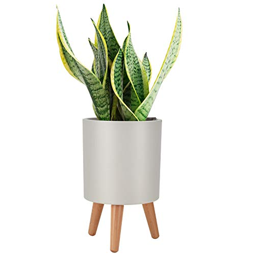 Plant Pots, LEEFENGQI Self-Watering Gardening Pots Accessories with Stand for Flowers Snake Plants, Water Shortage Alarm Indoor Planters Decorations for Home Office