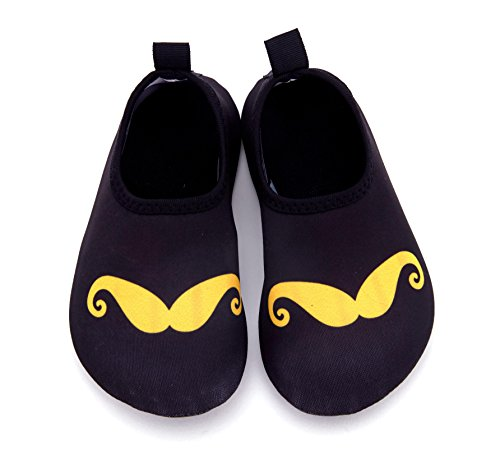 Giotto Kids Swim Water Shoes Quick Dry Non-Slip for Boys & Girls I-black