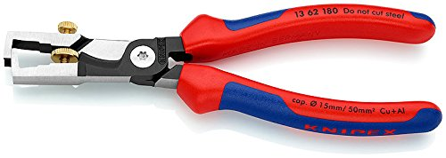 Knipex 13 62 180'Strix' Cable Shears/Insulation Strippers, Multi-Colour