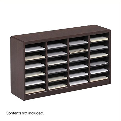 Scranton & Co Mahogany Wood Mail Organizer - 24 Compartments by Scranton & Co