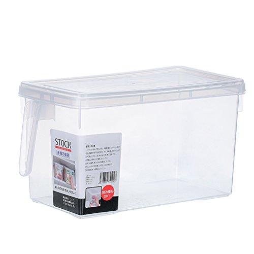PIXNOR Schüttdosen 4.7L Kühlschrankdose Vorratsdose mit Deckel - Transparent