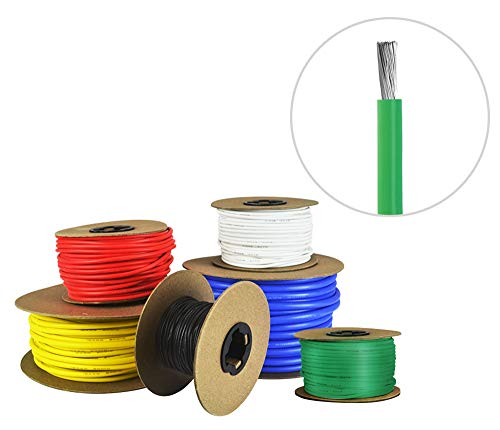 10 AWG Gauge Silicone Wire - Fine Strand Tinned Copper - 25 Feet Green