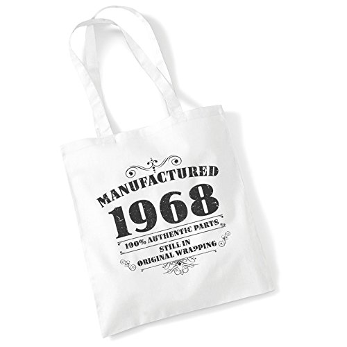 Women White Cotton Bags Gifts Tote Printed Bag Manufactured Shopper 1968 For qT44AvpE