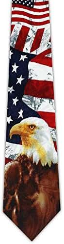 Eagle on USA Flag Tie