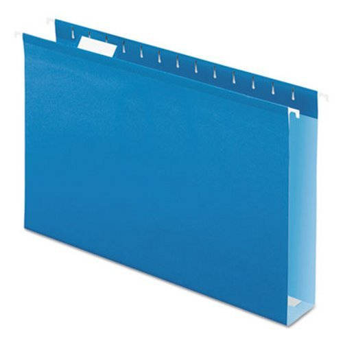 Reinforced 2'' Extra Capacity Hanging Folders, Legal, Blue, 25/Box, Sold as 1 Box
