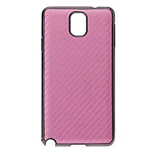 Straw Mat Print Pattern Hard Back Case Cover for Samsung Galaxy Note3 N9000 --- COLOR:Black