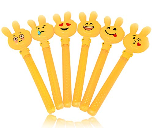 4E's Novelty Bubble Wands Emoji Party Favor Toys, Bubbles Party Favors Clapper Toys for Kids Summer Pool Beach Party Favors for Kids Boys Girls ()