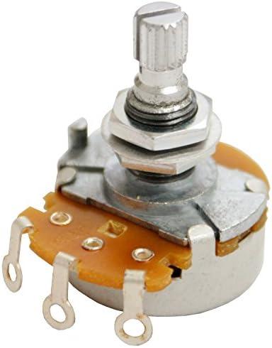 ギターパーツ 国産ボリュームポット JPN A500K 24mm ナット×2 ワッシャー付