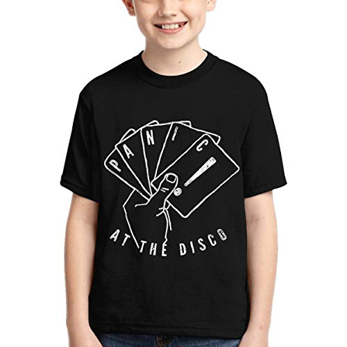 2BE Great Panic at The Disco Boys T-Shirt Fashion Pattern 3D Print Short Sleeve Youth Tee Shirts (Panic At The Disco Pretty Odd T Shirt)