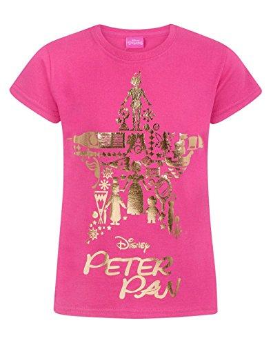 Disney Peter Pan Gold Foil Girl's T-Shirt (9-11 - Sauces Wendys
