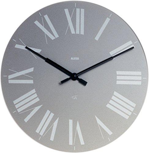 Alessi Firenze Wall Clock Aleesi 12 G, Gray