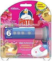 Desodorizador Sanitário Pato Gel Adesivo Aplicador + Refil Carrossel de Framboesa Ed. Ltda Oferta 6 Discos, Pa