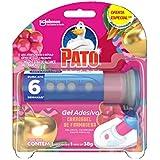 Desodorizador Sanitário Pato Gel Adesivo Aplicador + Refil Carrossel de Framboesa Ed. Ltda Oferta 6 Discos, Pato