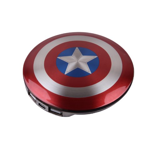MARVEL® Shield of Captain America 6800mAh Ultra Slim Dual USB PowerBank External Battery Pack