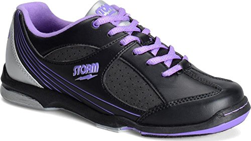 Storm Windy Black/Violet/Silver Women's Bowling Shoes, Size 9.5 by Storm