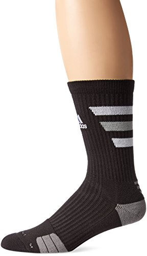 adidas Team Speed Traxion Crew Socks, Black/White/Aluminum 2