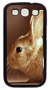Cute Easter Bunny PC Case Cover For Samsung Galaxy S3 SIII I9300 Black