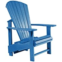 C.R. Plastic Products Generations Blue Upright Adirondack Chair