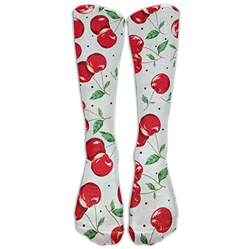 Cherry Athletic Tube Stockings Women's Men's Classics Knee High Socks Sport Long Sock One Size