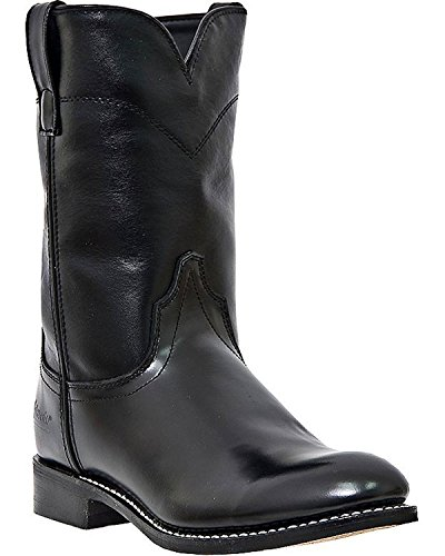 Laredo Saddle Men's Black Leather Boots 8.5 EW