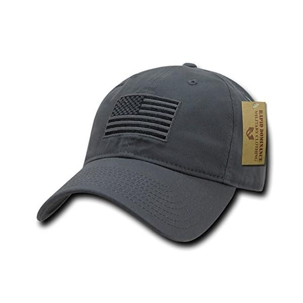 f0359a762e7 RapDom Polo Style American Pride Flag Baseball Caps Tonal Flag Dark Grey