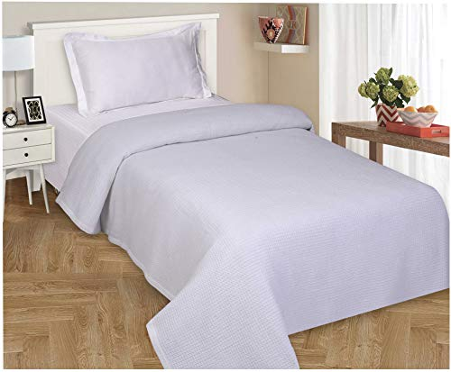 Thermal Weave - 100% Soft Premium Cotton Thermal Blanket in Waffle Weave- Full Queen 90x90 White- Snuggle in These Super Soft,Breathable Cozy Cotton Blankets - Perfect for Layering Any Bed - Provides Comfort
