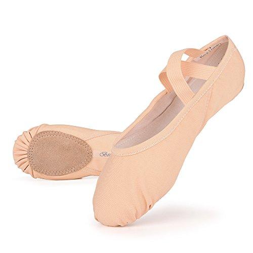883b5a4153ddc image Skyrocket Flying Filles Femme Demi Pointe Toile Chaussures de Ballet  EU25~44 doux Chaussons
