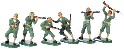 W Britain Super Deetail Toy Soldiers WWII US Marines Pacific Set No.1 6 Painted Figures in GIFT BOX Collectible Toy Soldier 1/32 Scale Painted Figures