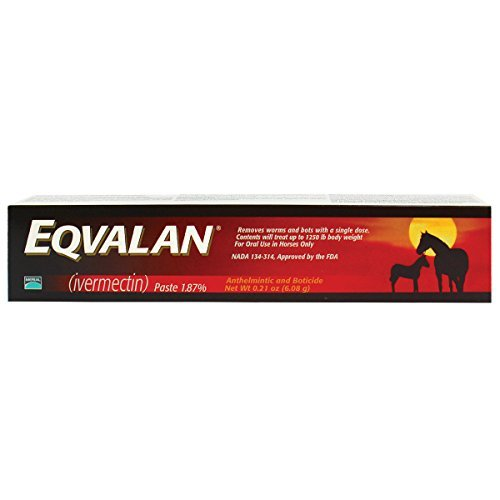 Dewormer Single - Eqvalan Paste (1.87% Ivermectin) Equine Dewormer Single Oral Syringe