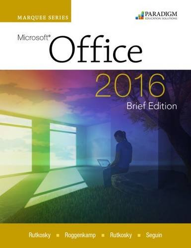 Marquee Series: Microsoft (R)Office 2016-Brief Edition: Text