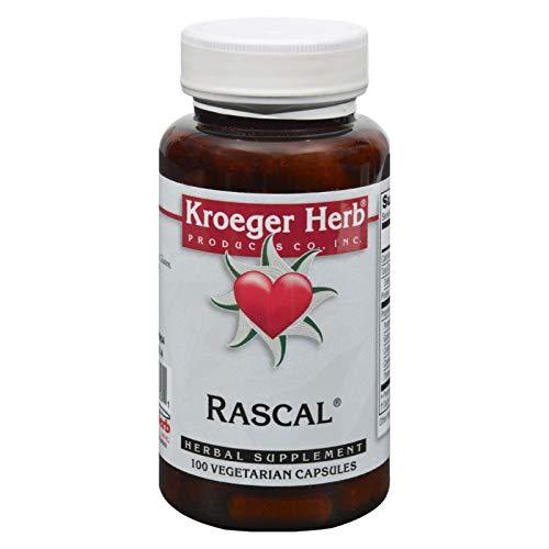 Rascal 100 Capsules - Kroeger Herb Rascal - Herbal Supplement - 100 Vegetarian Capsules