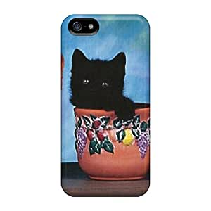 Fashion Protective Three Kittens In Three Flowerpots Cases Covers For Iphone 5/5s