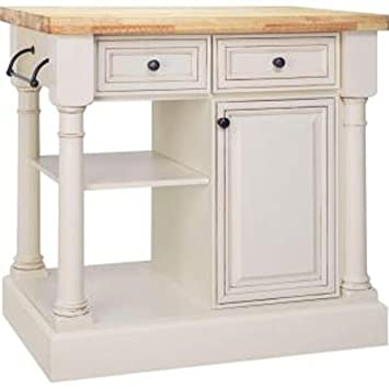 American Classics By RSI KBISL36Y VBR 36 Inch Traditional Kitchen Island,  Vanilla With
