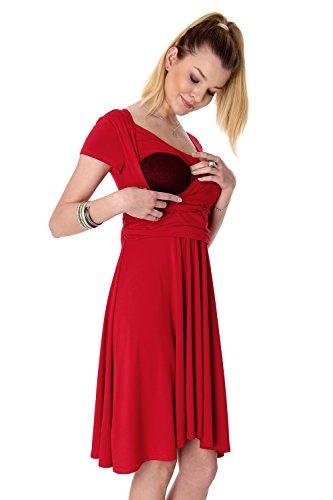 ad Abito linea a Rosso Maniche Donna corte GoFutureWithLove 6Sqvv