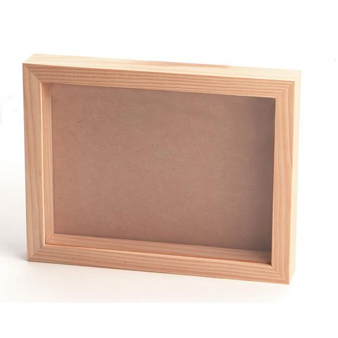 Bulk Buy: Darice DIY Crafts Pine Wood Collection Shadow Box with Glass Front 8 x 11 inches (12-Pack) 9162-72 by Darice