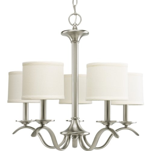 Progress Lighting P4635-09 Inspire Collection 5-Light Chandelier, Brushed - Collection Nickel Five Light Chandelier