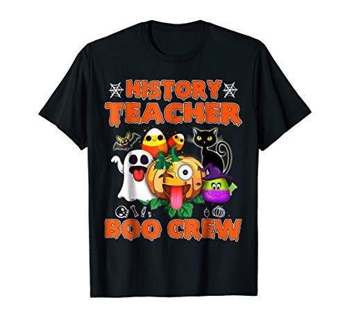 Black Cat Pumpkin Candy Ghost Shirt History Teacher