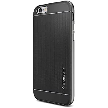Spigen Neo Hybrid iPhone 6 Case with Flexible Inner Protection and Reinforced Hard Bumper Frame for iPhone 6S/iPhone 6 - Gunmetal