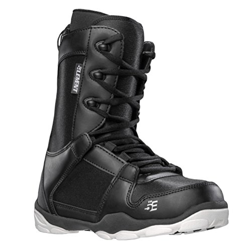 5th Element ST-1 Mens Lace Up Snowboard Boots Black
