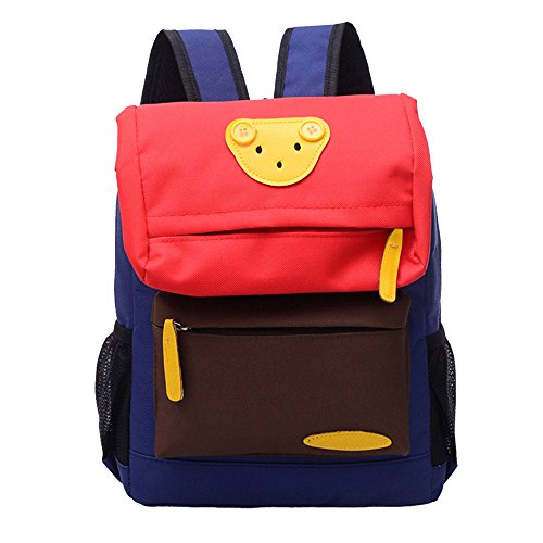 Kindergarten Backpack, MagicQueen Baby Infants Canvas Schoolbag Travel Shoulder Bag 32x26x12cm (Red) by MagicQueen